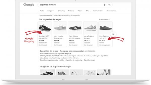 Gestión de campañas de Google Shooping
